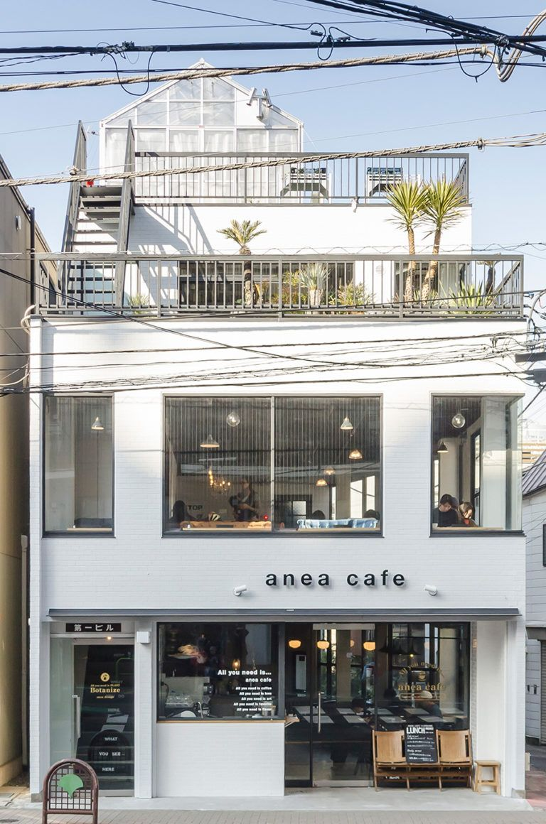 白金の古いビルを1棟丸ごとリノベーション。1、2階でカフェ「anea cafe SHIROKANE 」を、3階で「Botanize」を展開。