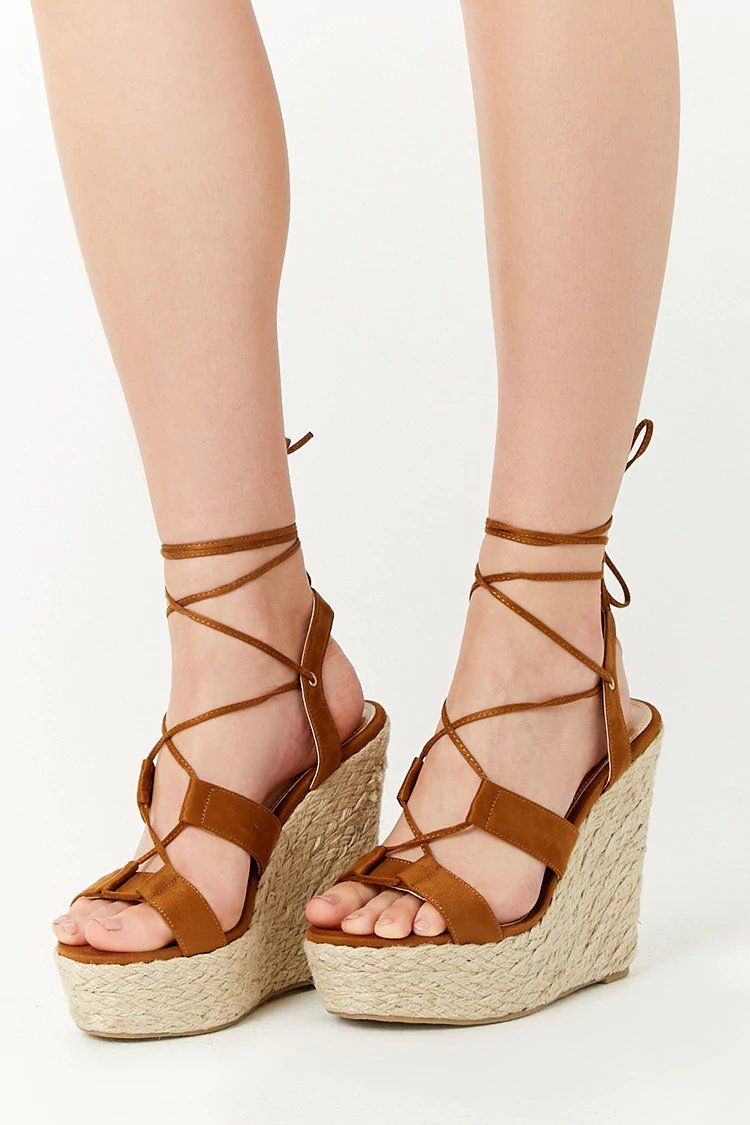 7f5cd0c7820 Product Name:Faux Suede Lace-Up Espadrille Wedges, Category:Shoes ...