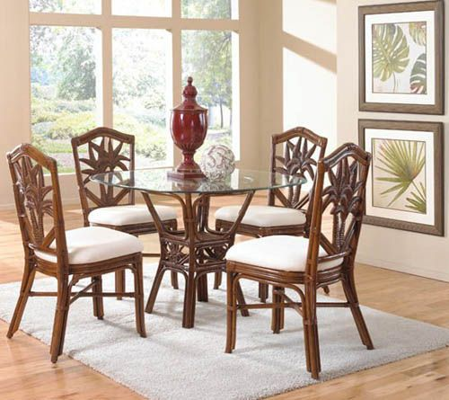 Cancun Palm Dining Room Set 401 From Hospitality Rattan