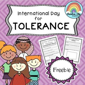 United Nations Day Of Tolerance Research Task Freebie Tolerance Activities Tolerance Multicultural Activities