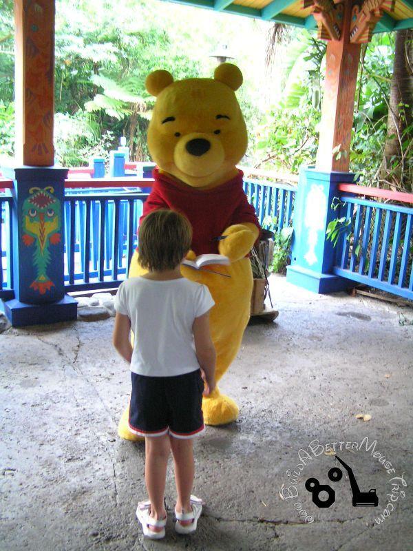 Meeting Winnie the Pooh at Disney World