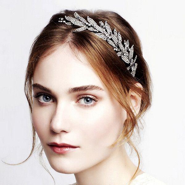 Luxrious Silver Wedding Bridal Hair Accessories Headband TWAHP048