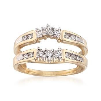 .53 ct. t.w. Diamond Jacket Wedding Ring in 14kt Yellow Gold | #826361 @ ross-simons.com