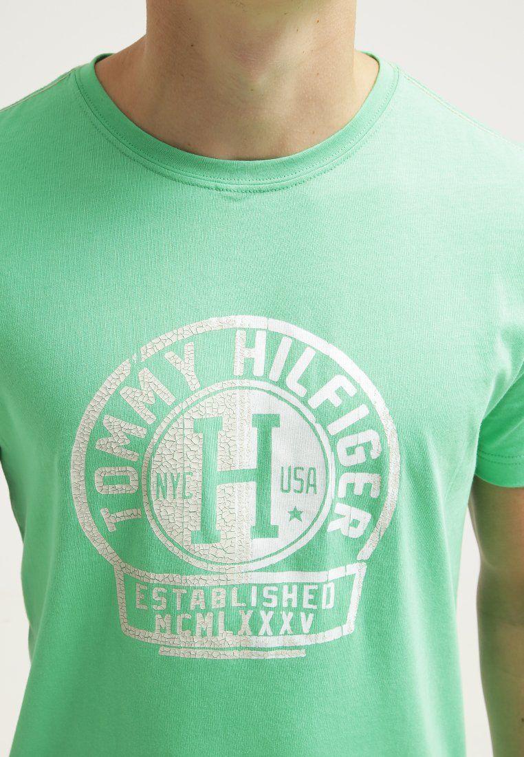 Tommy Hilfiger BERNY - Camiseta print - grün - Zalando.es
