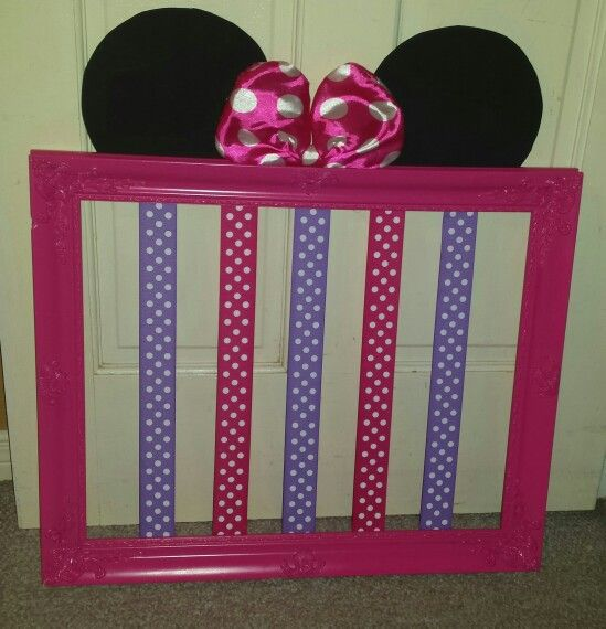 Minnie Mouse Bow Holder Minnie Mouse Room Decor Minnie Mouse