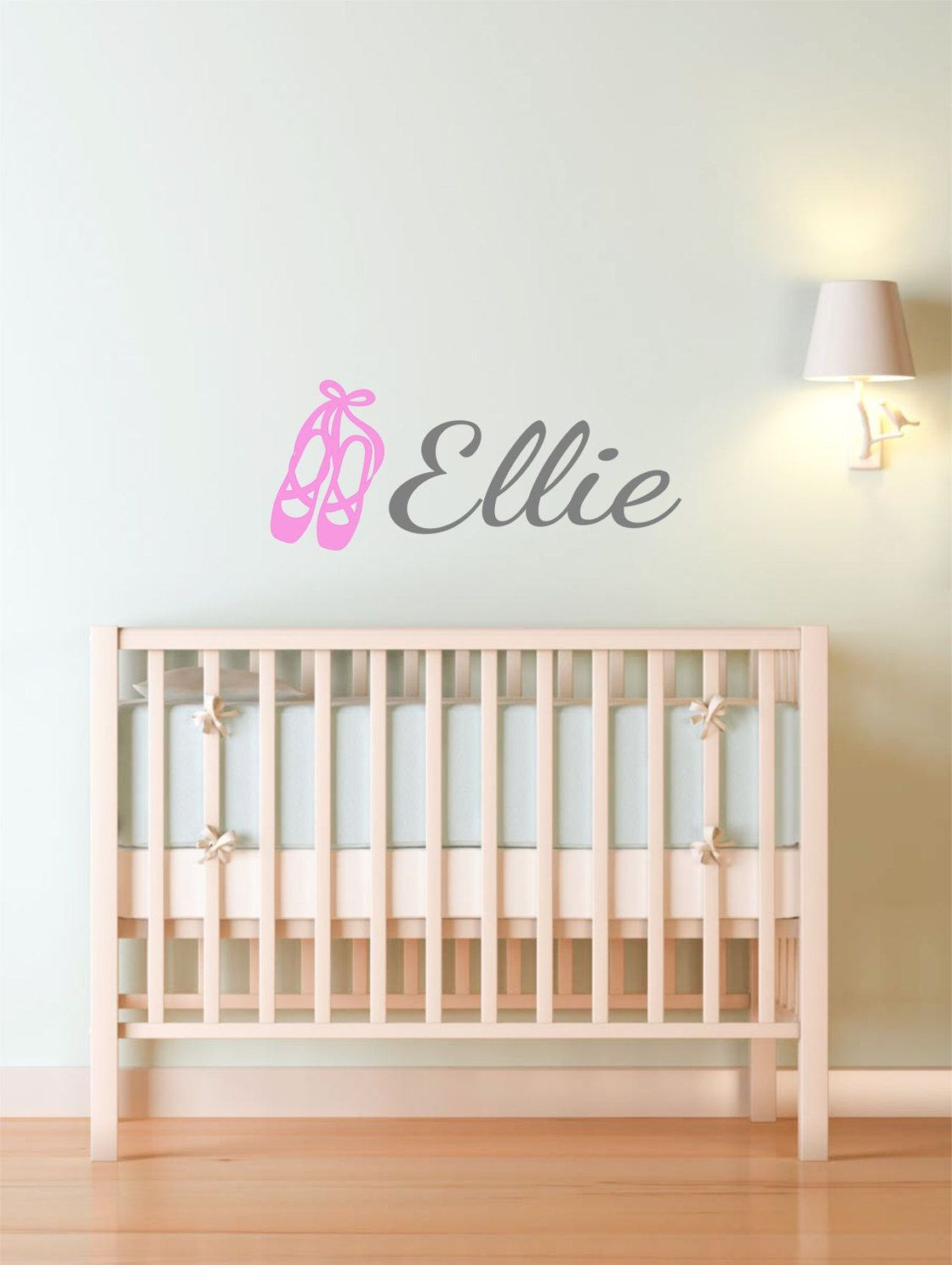 Personalized Name and Ballet Dance Shoes - Vinyl Art Wall Decal, Personalized Bedroom Name Vinyl Sticker,Vinyl Lettering, Dancer, 28x11.5 by TheVinylCompany on Etsy