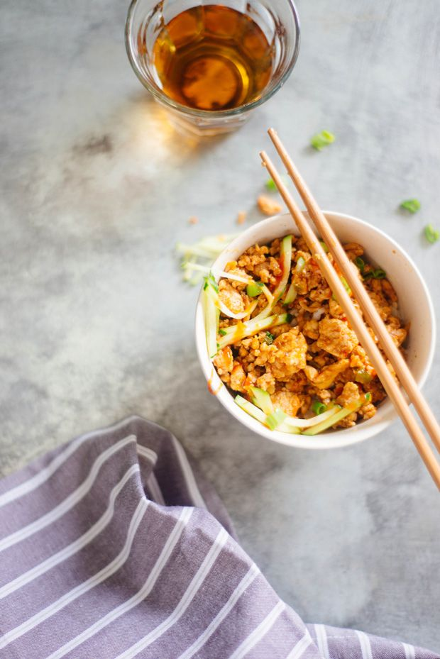 asian style chicken bowl.