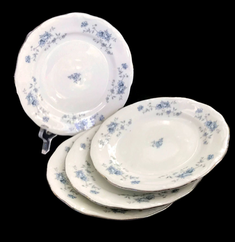 Vintage Haviland China Johann Haviland Bread and Butter Plates Blue ...