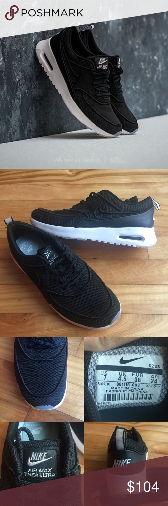 the best attitude b5388 be336 🌧New🌧 NIKE black Air Max Thea Ultra SI ~ 9.5 brand new no original box  size 9.5 white black comes from smoke free home guaranteed 100% authentic  A1700043 ...