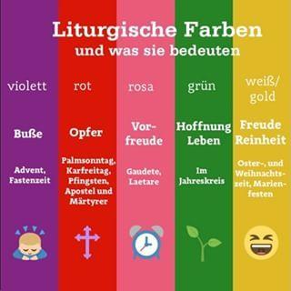 Farben Des Kirchenjahres