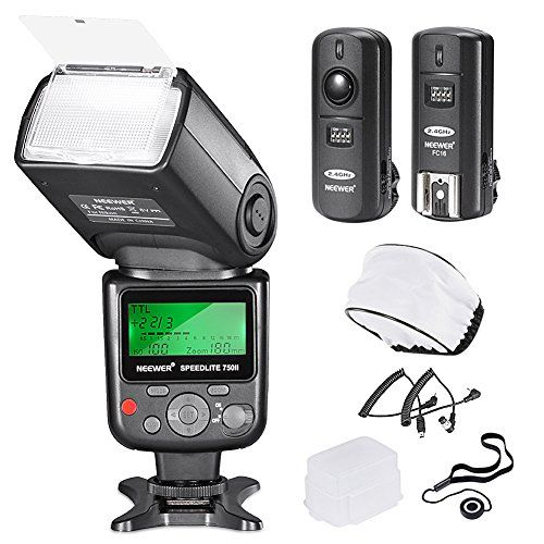 Neewer 750ii Ttl Flash Kit For Nikon D7200 D7100 D7000 D5500 D5300 D5200 D5100 D5000 D3300 D3200 D3100 D3000 D700 D600 D500 D90 D80 D70 D60 D50 Cameras With Wir In 2020
