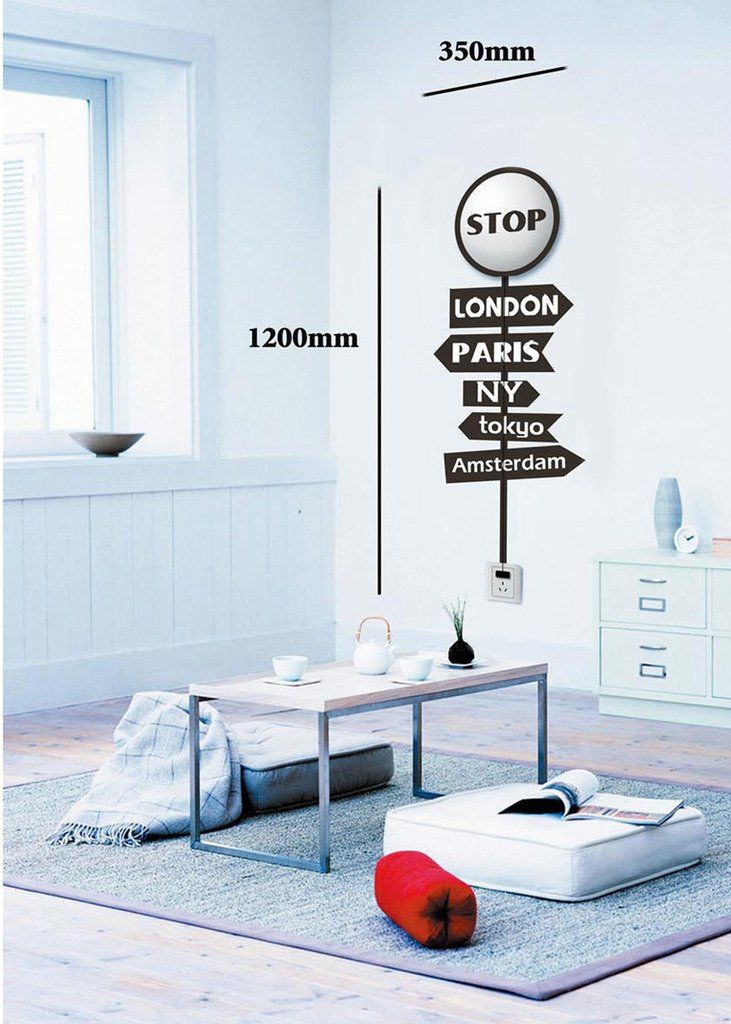 green house-3d wall sticker led lamp removable home deco wall light