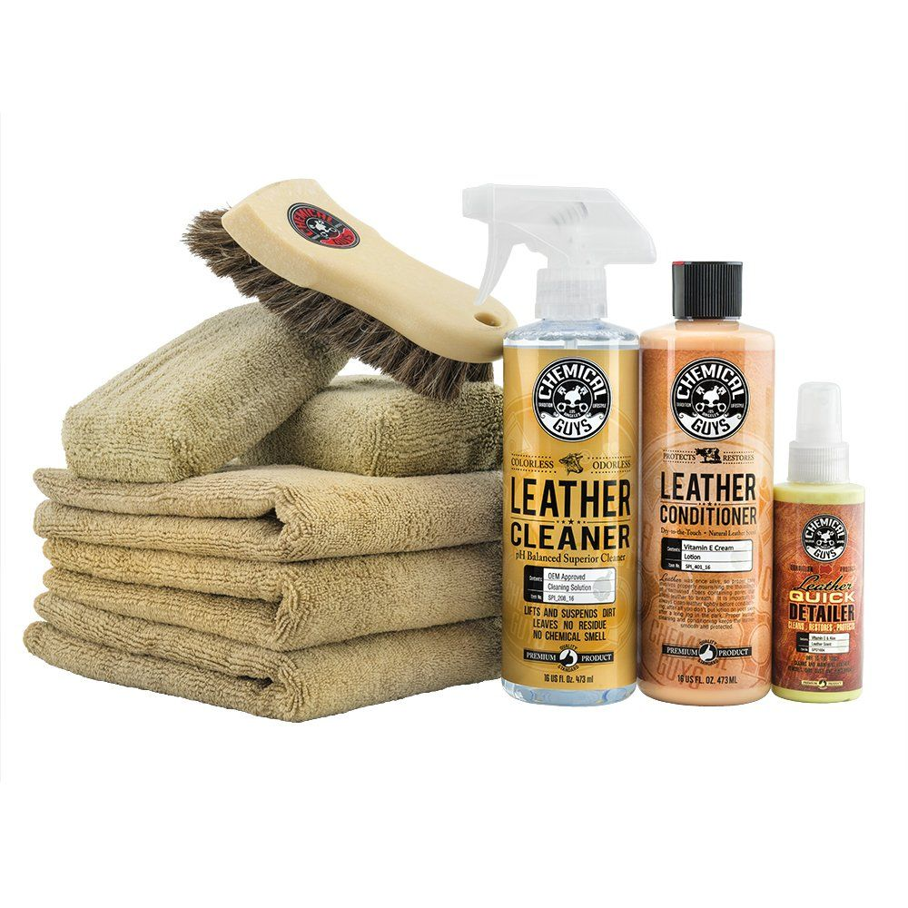 Chemical Guys Hol303 Leather Cleaner And Conditioner Care Kit 4 Fluid Ounces Price 25 Chemical Guys Wash Wax Leather Car Seats