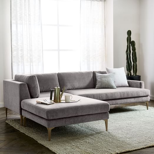 Harris Loft 2 Piece Chaise Sectional In 2020 Trendy Living Rooms