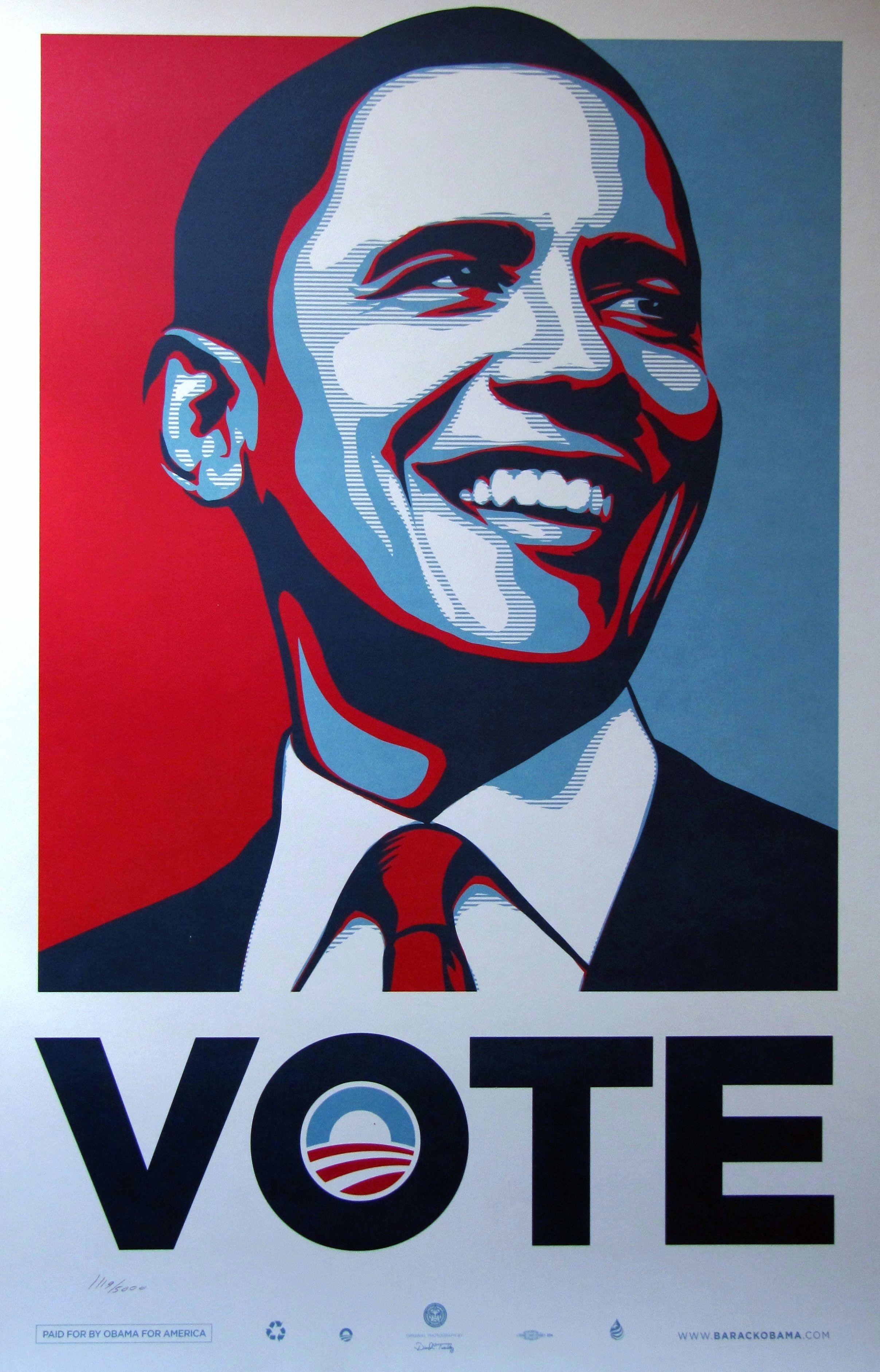 Shepard Fairey Vote Poster Obama 2012 | Fairey | Pinterest ...