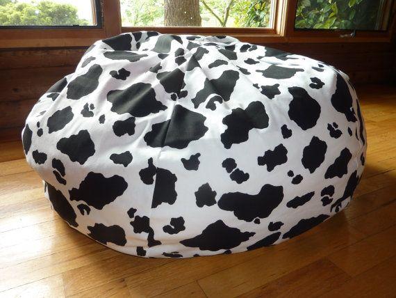 Cow Bean Bag Chair Cover Black White Black And White