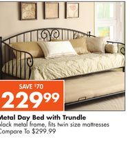 Best Metal Day Bed With Trundle From Big Lots 229 99 Save 70 400 x 300