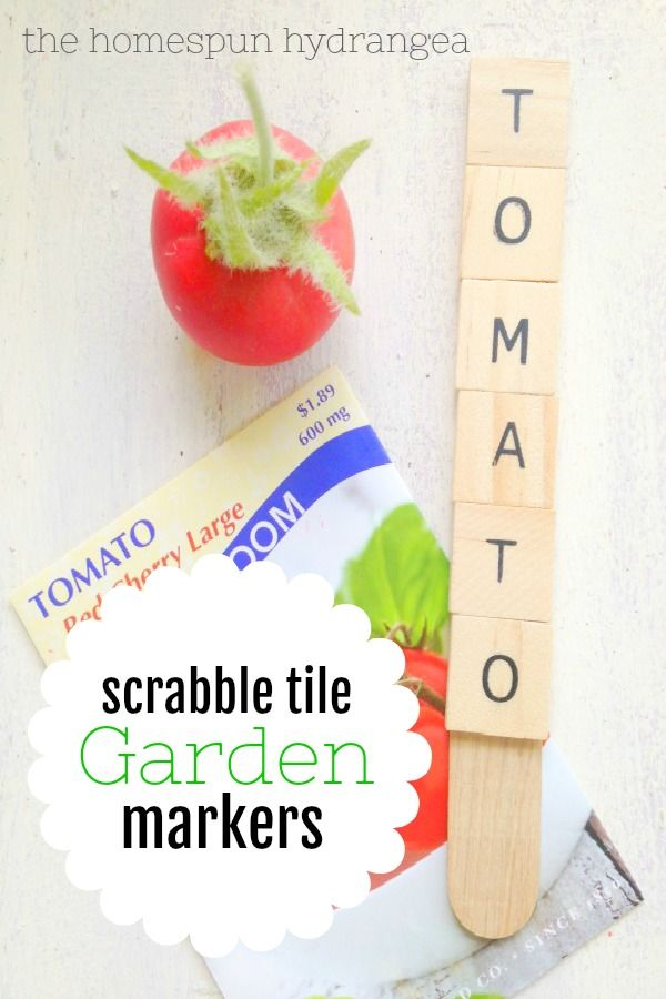 Wood Vegetable Garden Markers