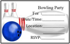 Bowling Party Invitation Templates  Invitations