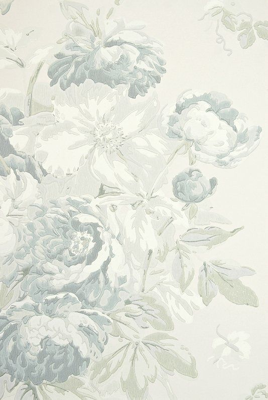 Garden Peony Wallpaper A Light Taupe Wallpaper With Large