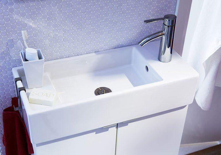 Handwaschbecken Unterschrank Ikea Kleines Bad Waschbecken Ikea
