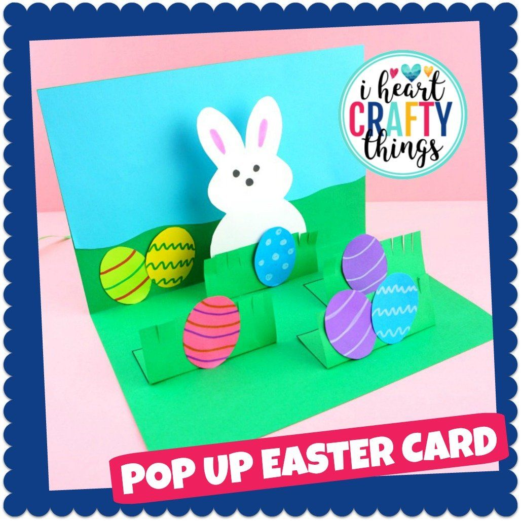 Pop Up Easter Card Craft Easy Easter Crafts Easter Cards Pop Up Card Templates