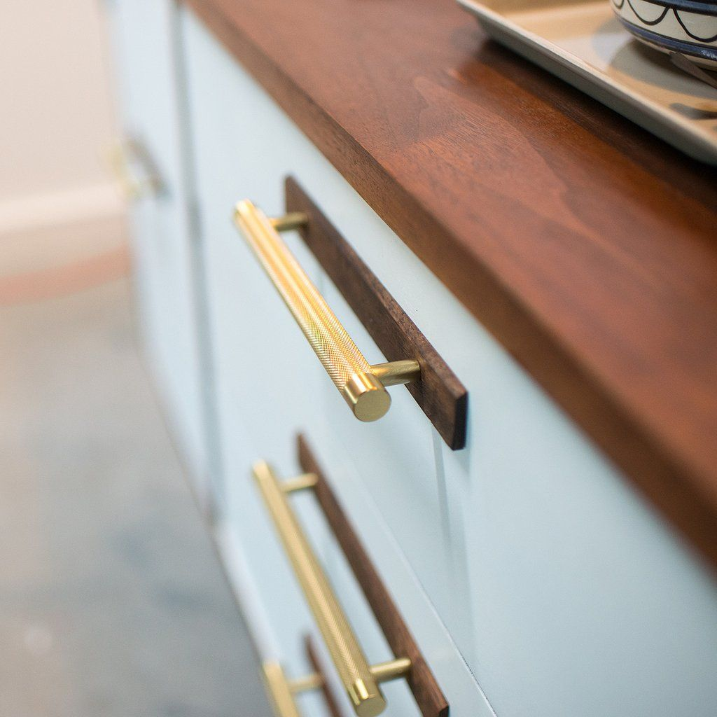 Knurled Pull Natural Brass Cabinetry Hardware Kitchen Cabinet