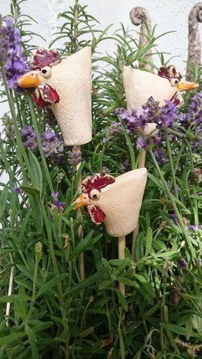 Huhn Gartenstecker Keramik Töpfern In 2019 Pinterest Keramik
