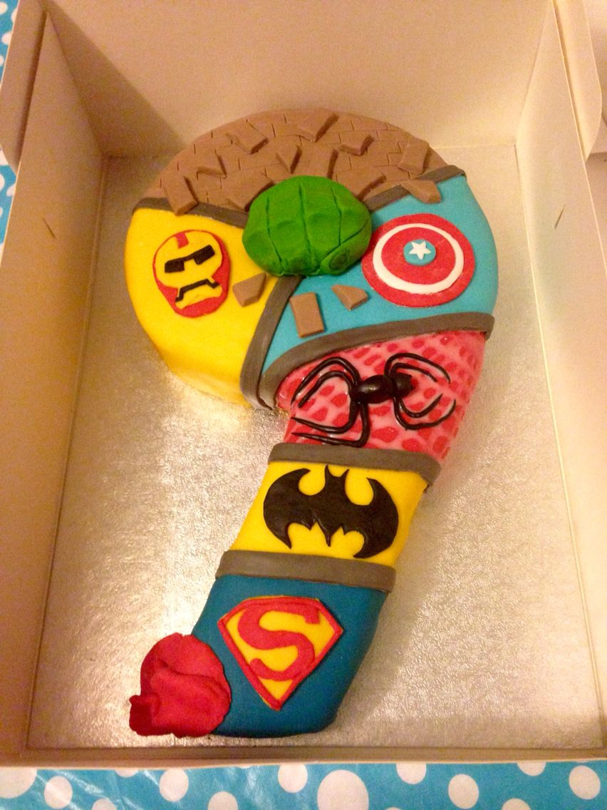 Boys 9th Birthday Cake Marvel Superheroes With Images 9th