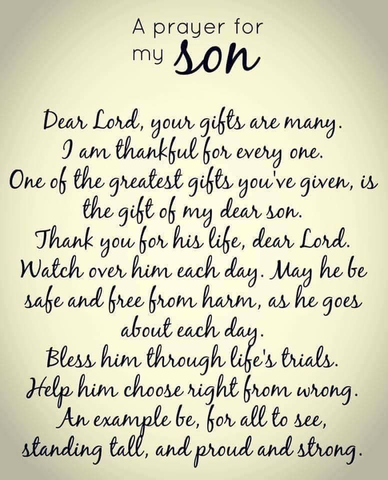 This Is For Both Of My Sons My Three Sons Prayers Prayer For