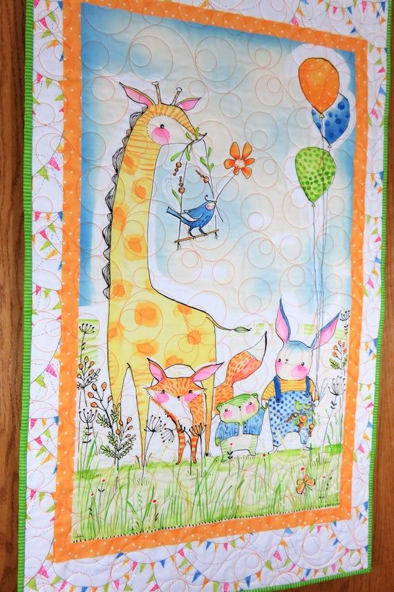 Photo of Handmade Wall Hanging for Sale, Giraffe Nursery, Zoo Animals, Handmade Nursery Decor, Baby Nursery