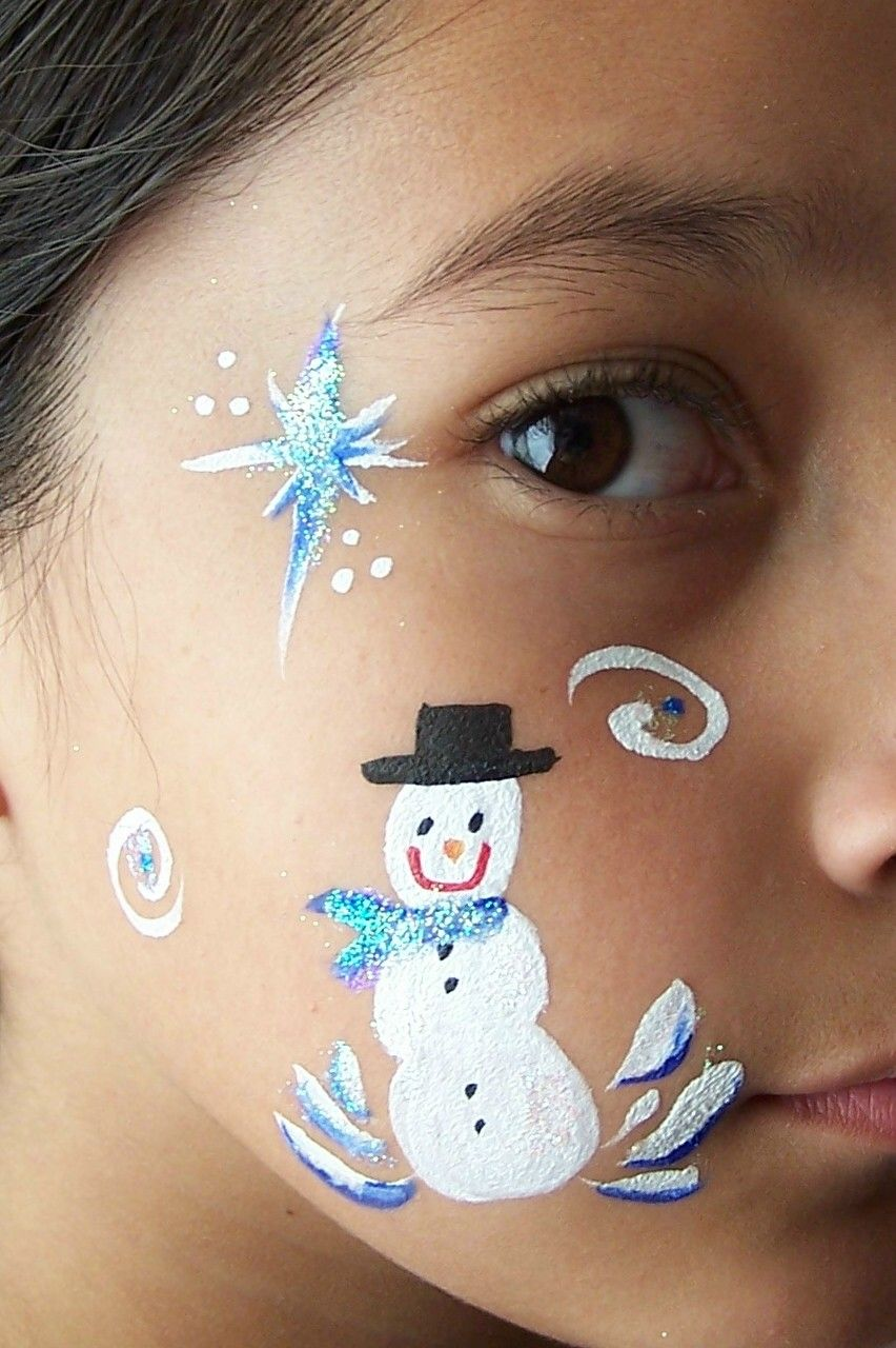 Free Simple Christmas Face Painting Designs