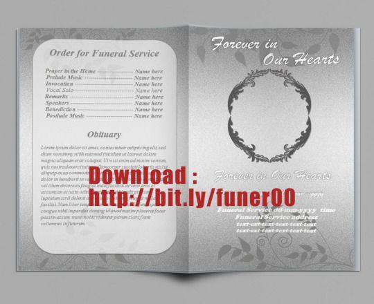 Kostenlose Beerdigung Programm Vorlage Microsoft Word   Kostenlose ...