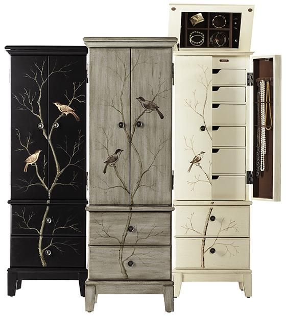 Chirp Jewelry Armoire find the solution to concealing and organizing