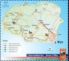 Borkum Karte Fahrradwege.Karte Insel Foehr Urlaub Travel Und Boat