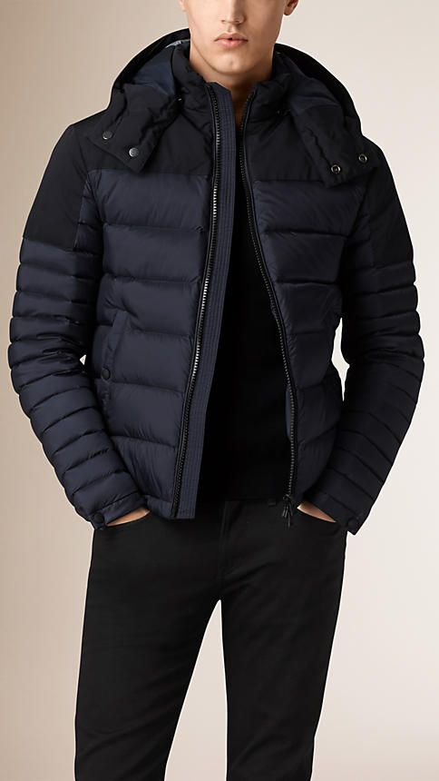 bec32d0c86f Burberry Navy Lightweight Down Filled Technical Puffer Jacket