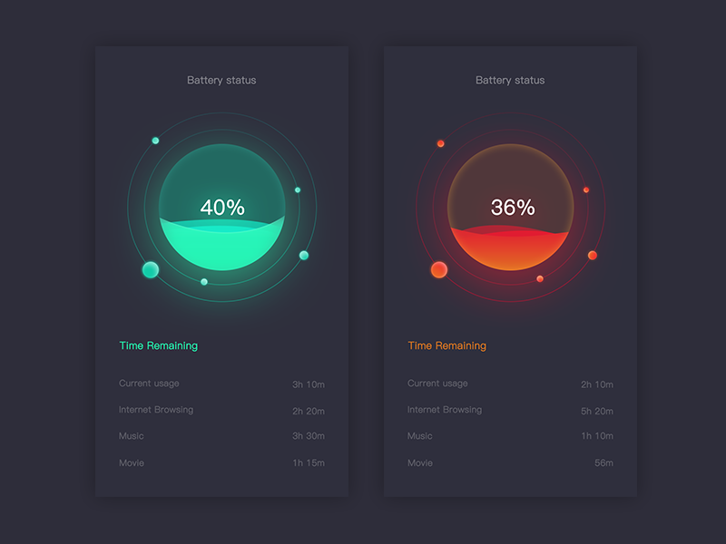 Battery Monitoring App User Interface : Battery care app menu pinterest ui design ux
