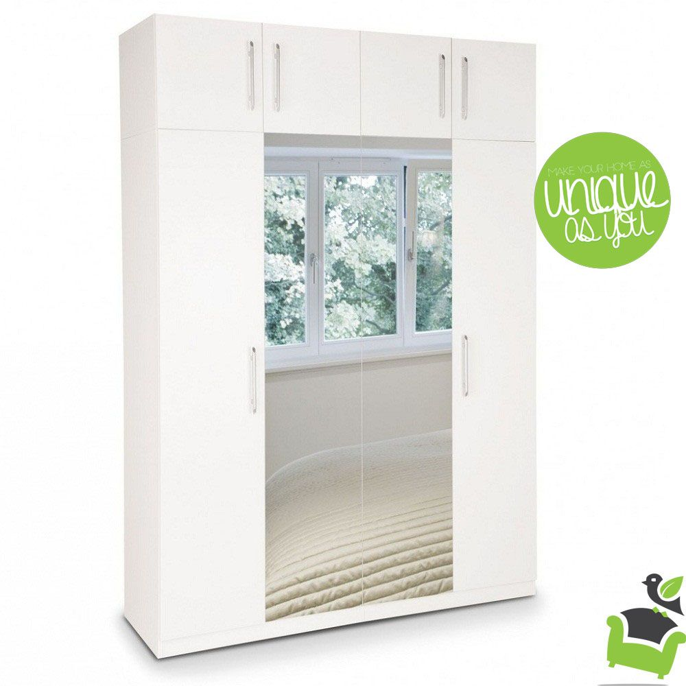 acton plus 4 door wardrobe with 2 mirrored doors bedroom wardrobes 4 door wardrobe mirror door tall cabinet storage