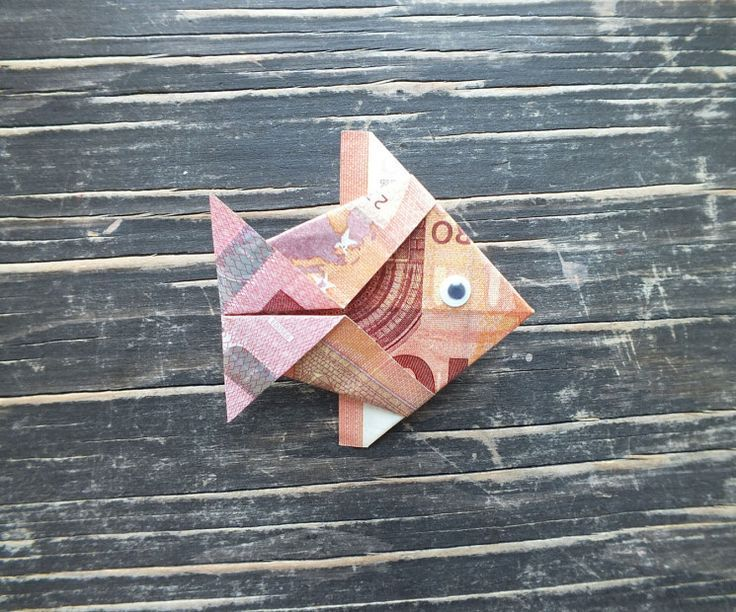 Fisch falten aus Geldschein - einfache Anleitung | Geschenke.de #piaggiovespa