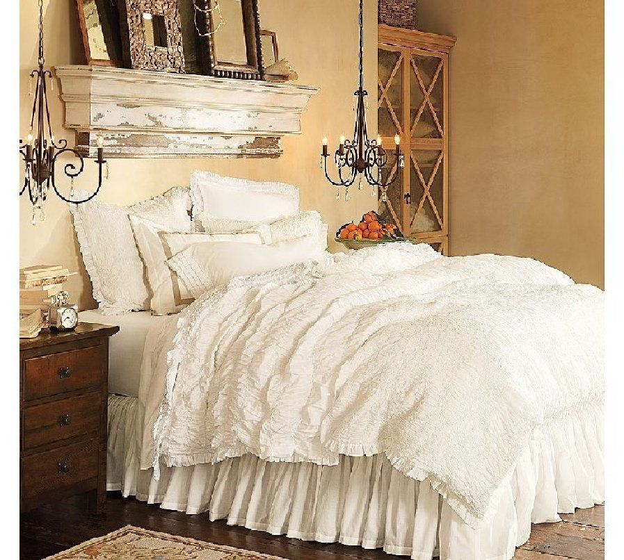 Shabby Chic Bedroom Love The Antique Distressed Mantel Above Bed