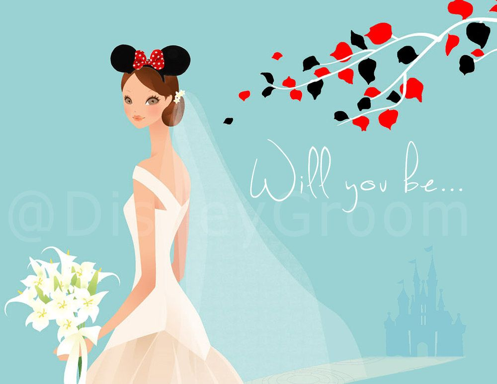 Will you be my Bridesmaid, Disney-themed bridesmaid card- I pinned this just for you @Abby Dennis!