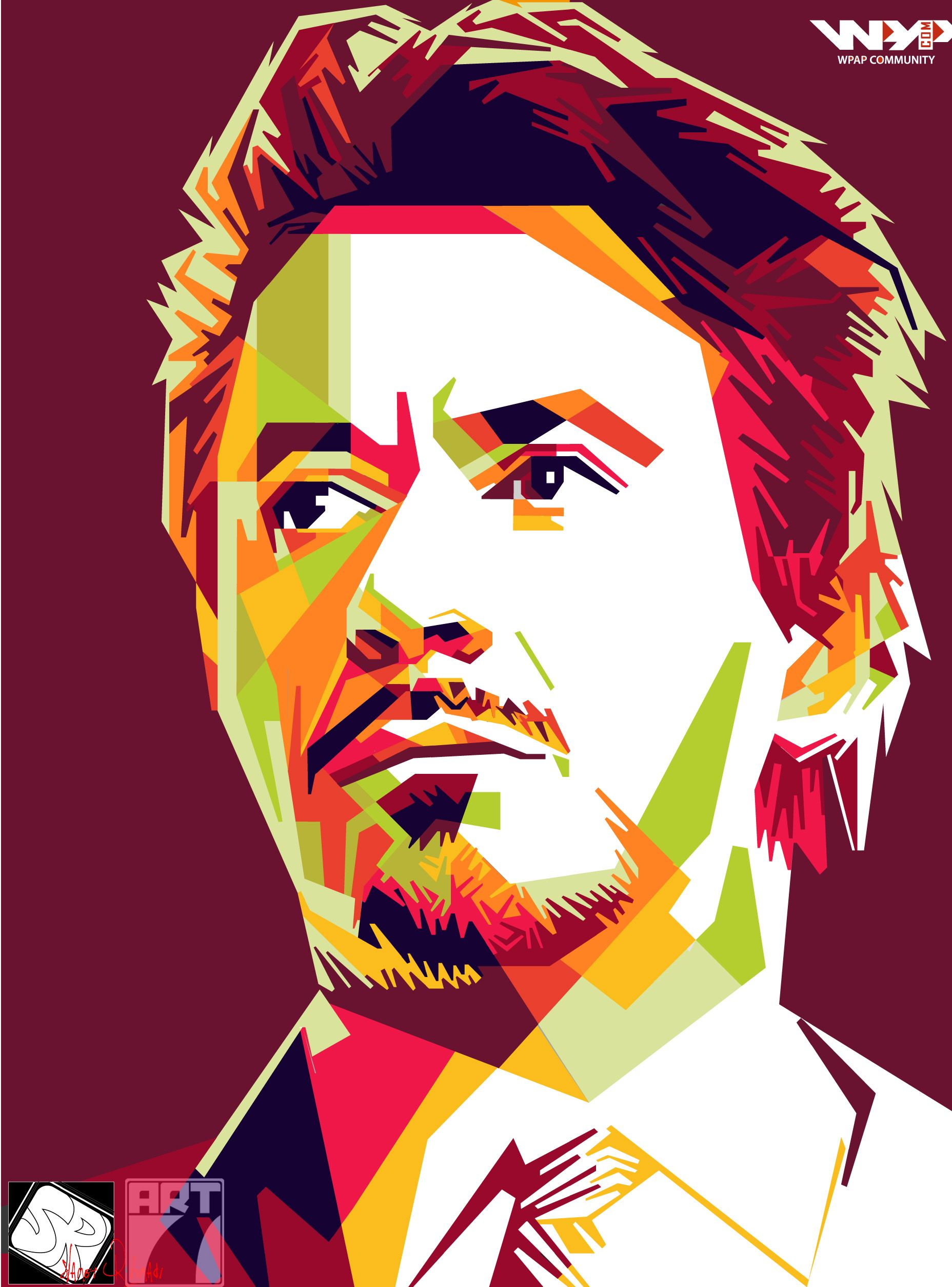 Tony Stark In Wpap Wpap Art Pop Art Painting Pop Art Portraits