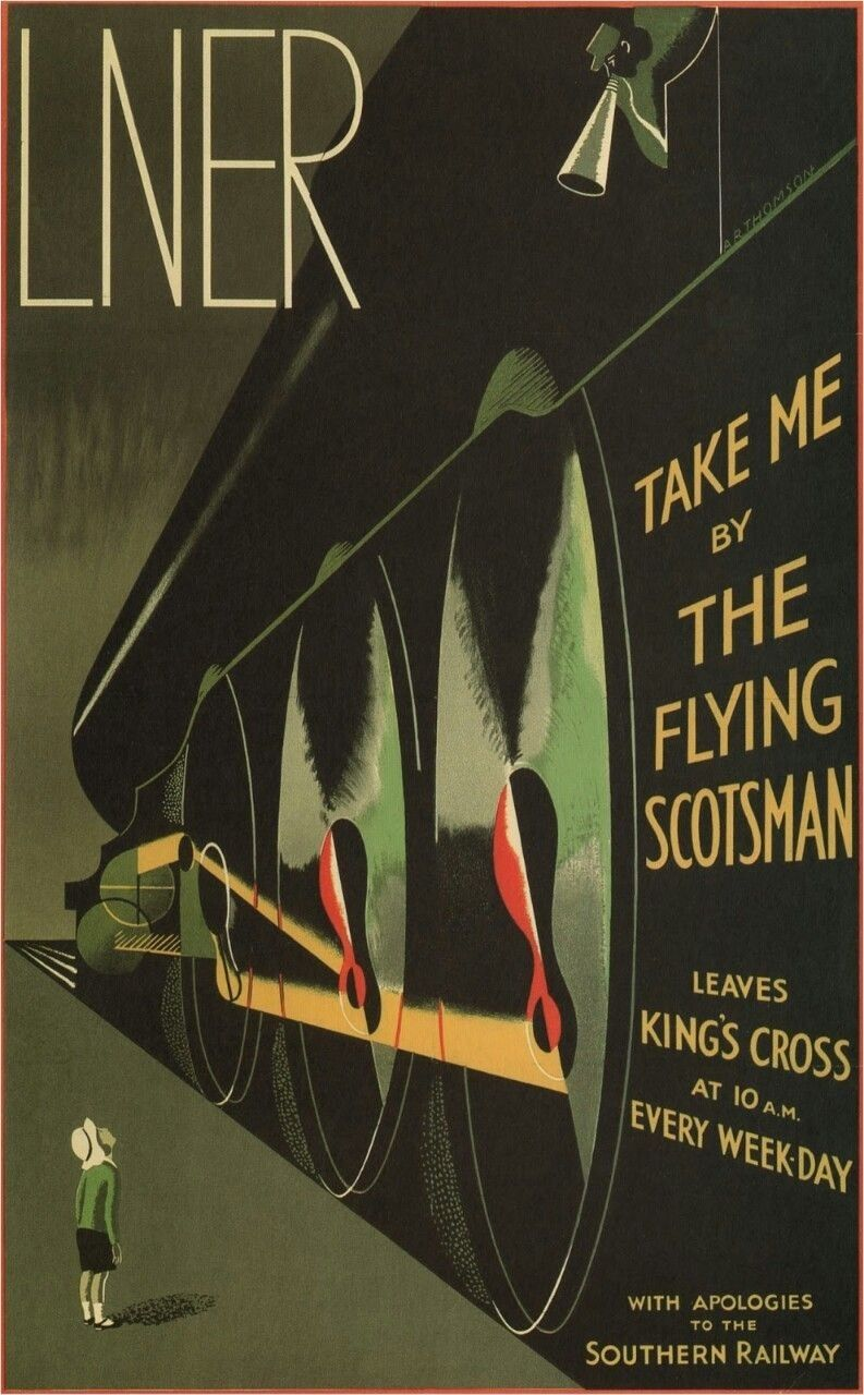 Take me by THE FLYING SCOTSMAN POSTER A R Thomson United Kingdom 1932 24X36