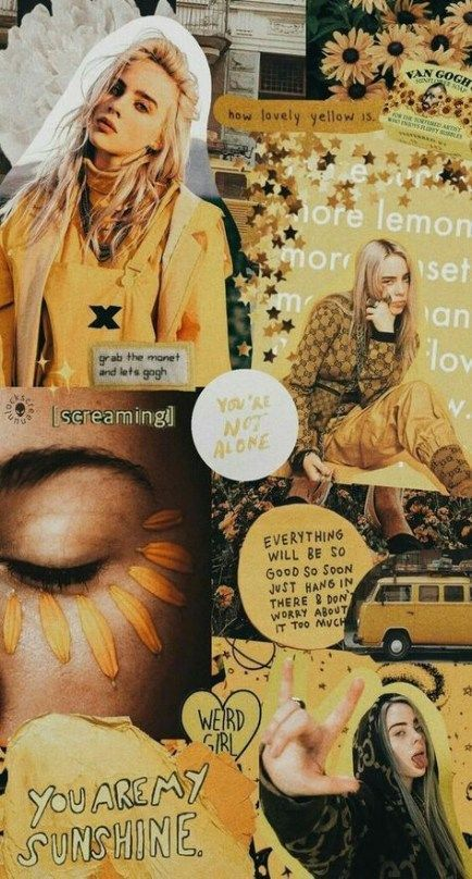 48 Trendy Yellow Aesthetic Wallpaper Iphone Billie Eilish in 2020   Ae