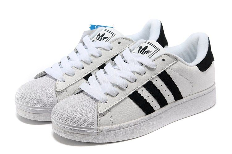 564a71f5 Adidas Women Men Originals Superstar 2 Casual Shoes White Black ...