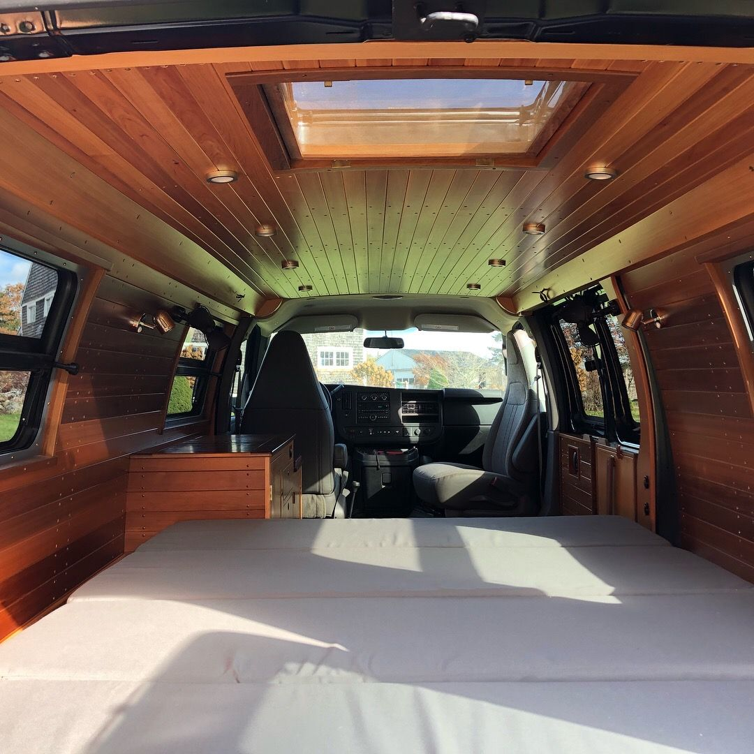 A Custom Van Interior By Brookfield Woodworking In Cushing Maine