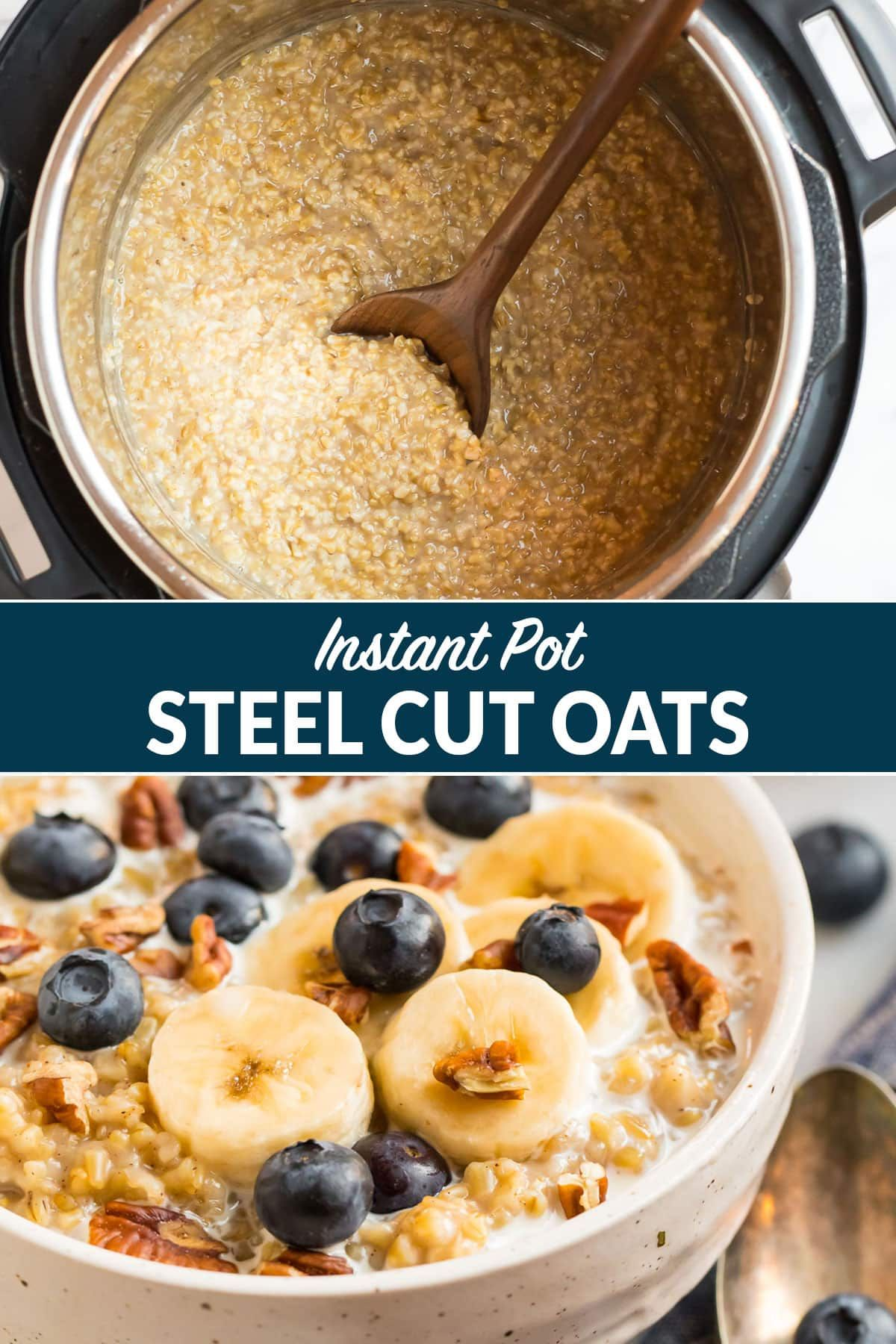 How to cook PERFECT Instant Pot Steel Cut Oats. Easy method for the best steel cut oatmeal that comes out perfectly every time! Just 4 minutes of pressure cook time. A great way to enjoy the goodness of oats, made hands free. Vegan. Gluten-Free. #instantpotsteelcutoats #instantpotrecipe #steelcutoats #perfectoatseverytime #healthybreakfastrecipe #wellplated via @wellplated