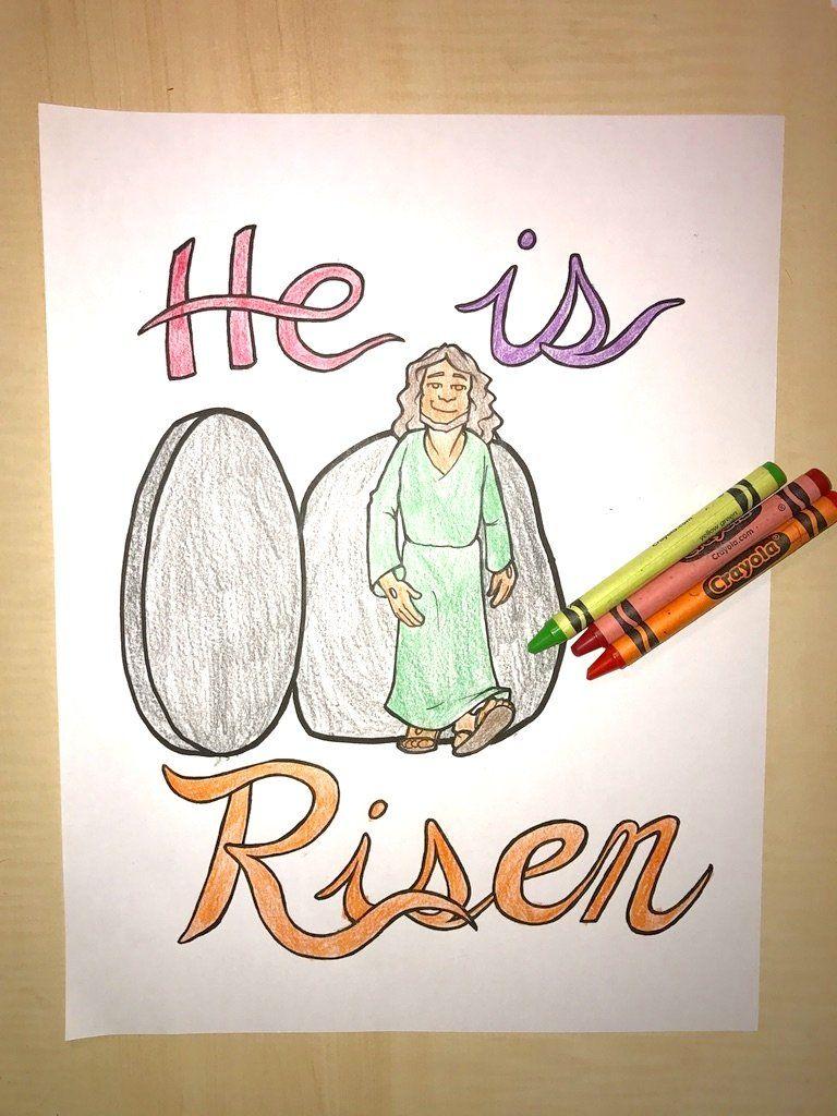 Jesus is risen coloring page childrenus pastor only pinterest