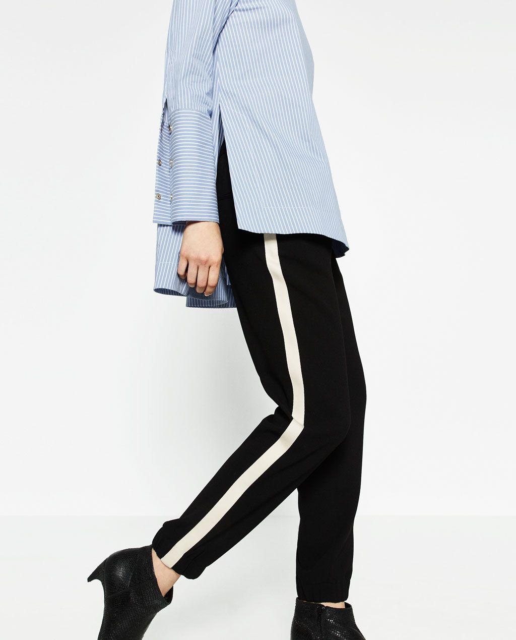 Pantalon Femme À Zara Pantaloni Bandes LatéralesPantalones qpUzSMV