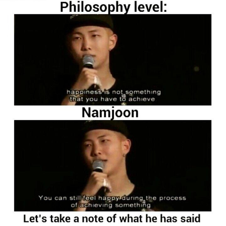 philosophy level kim namjoon bts quotes bts memes bts boys